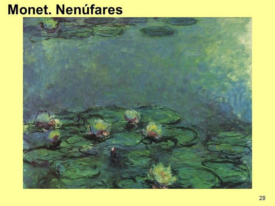 29 Monet. Nenúfares