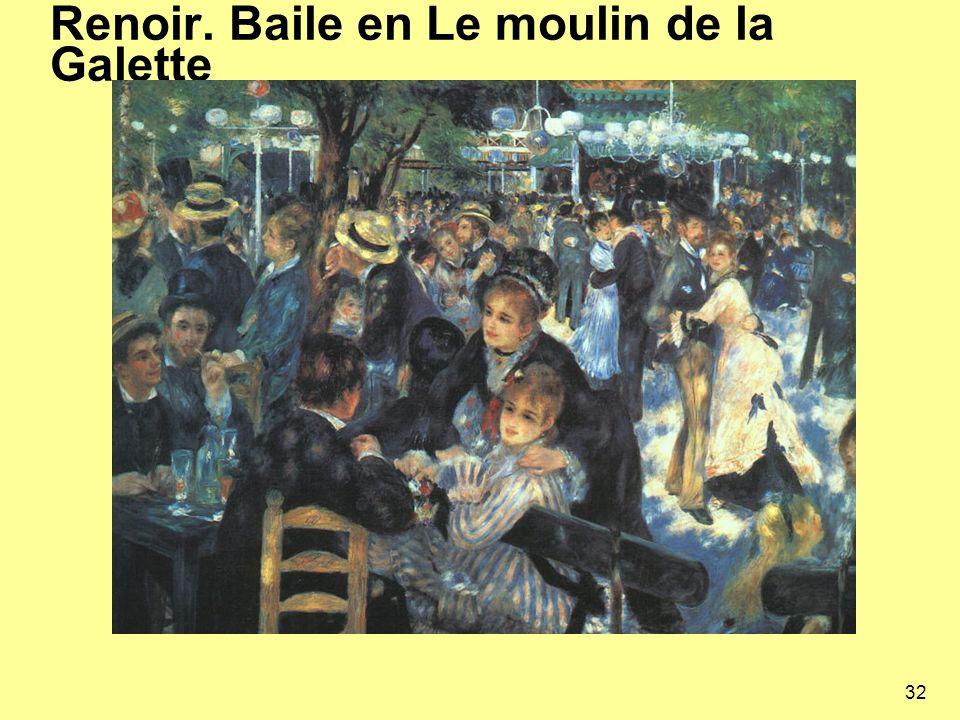 32 Renoir. Baile en Le moulin de la Galette