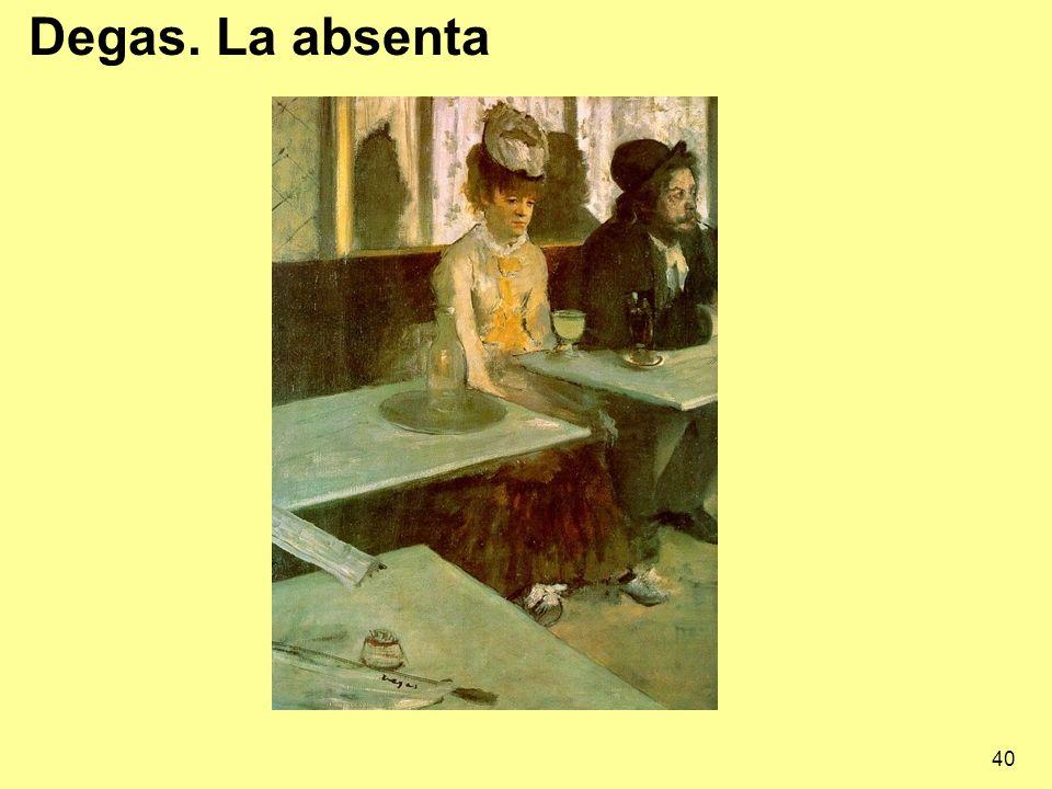 40 Degas. La absenta