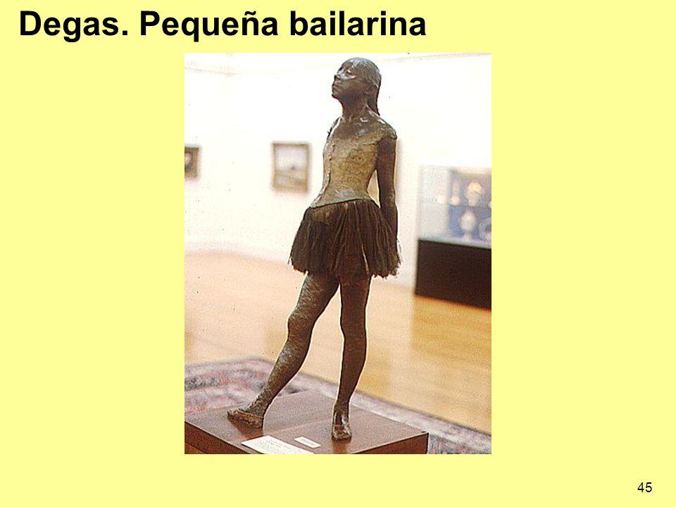 45 Degas. Pequeña bailarina