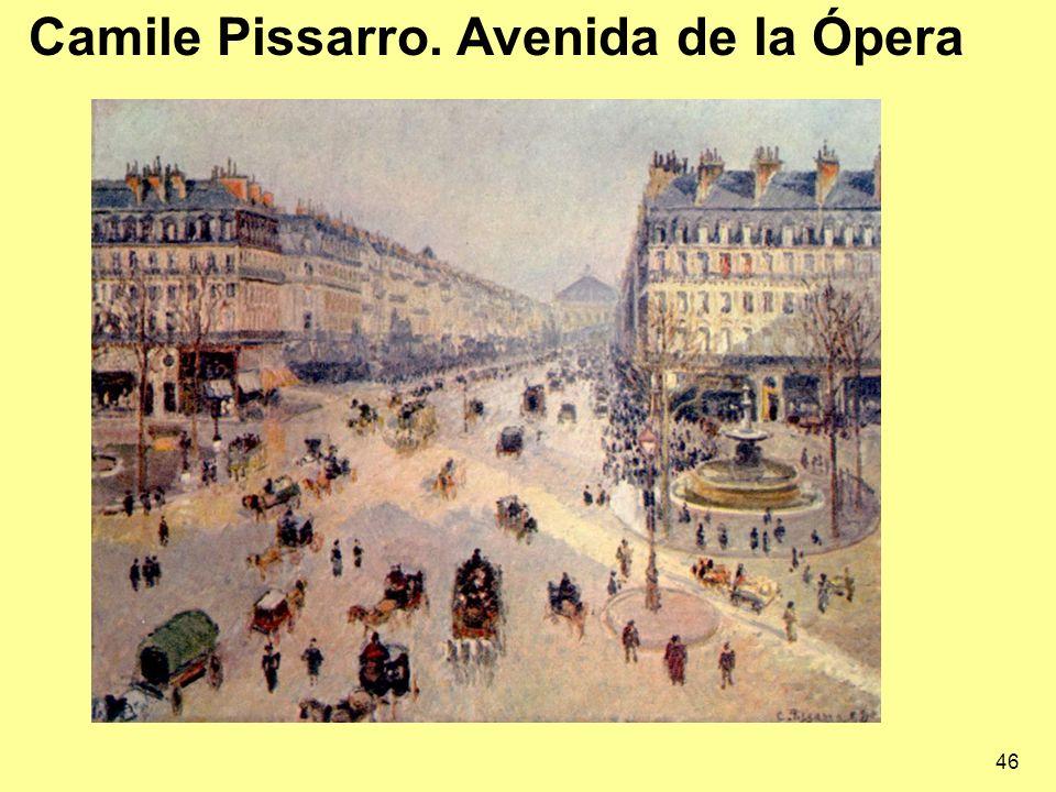 Camile Pissarro. Avenida de la Ópera 46