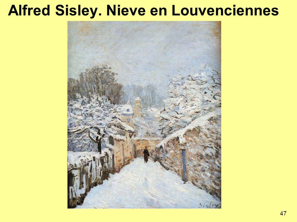 Alfred Sisley. Nieve en Louvenciennes 47