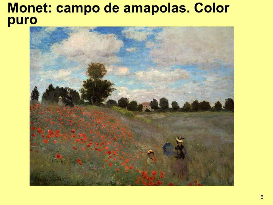 5 Monet: campo de amapolas. Color puro