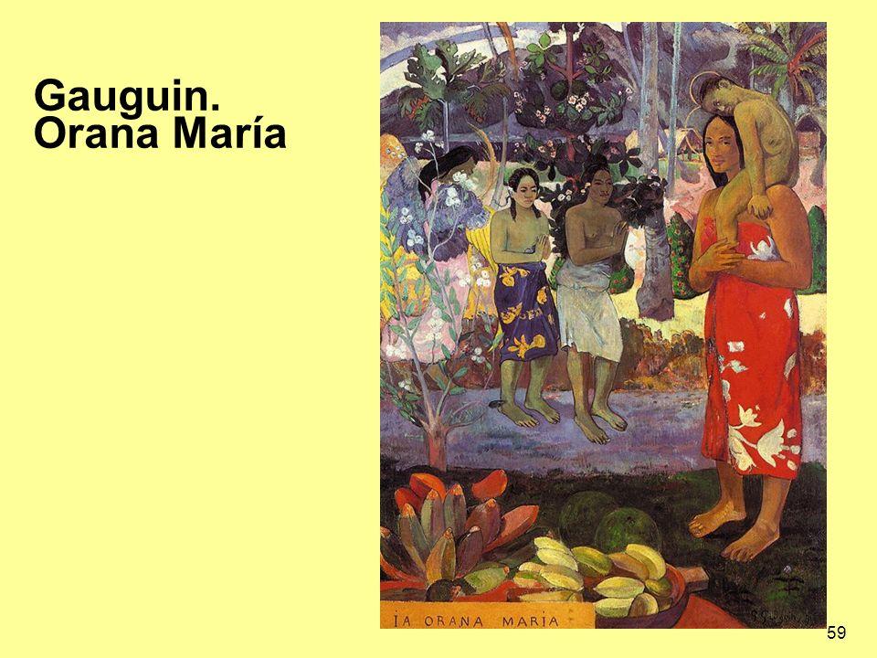 59 Gauguin. Orana María