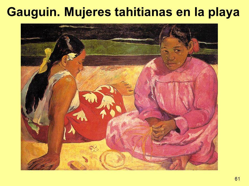 61 Gauguin. Mujeres tahitianas en la playa