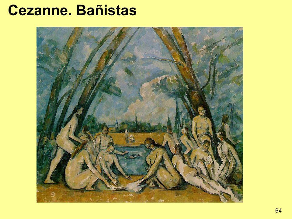 64 Cezanne. Bañistas