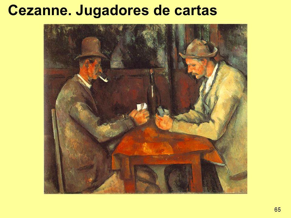 65 Cezanne. Jugadores de cartas