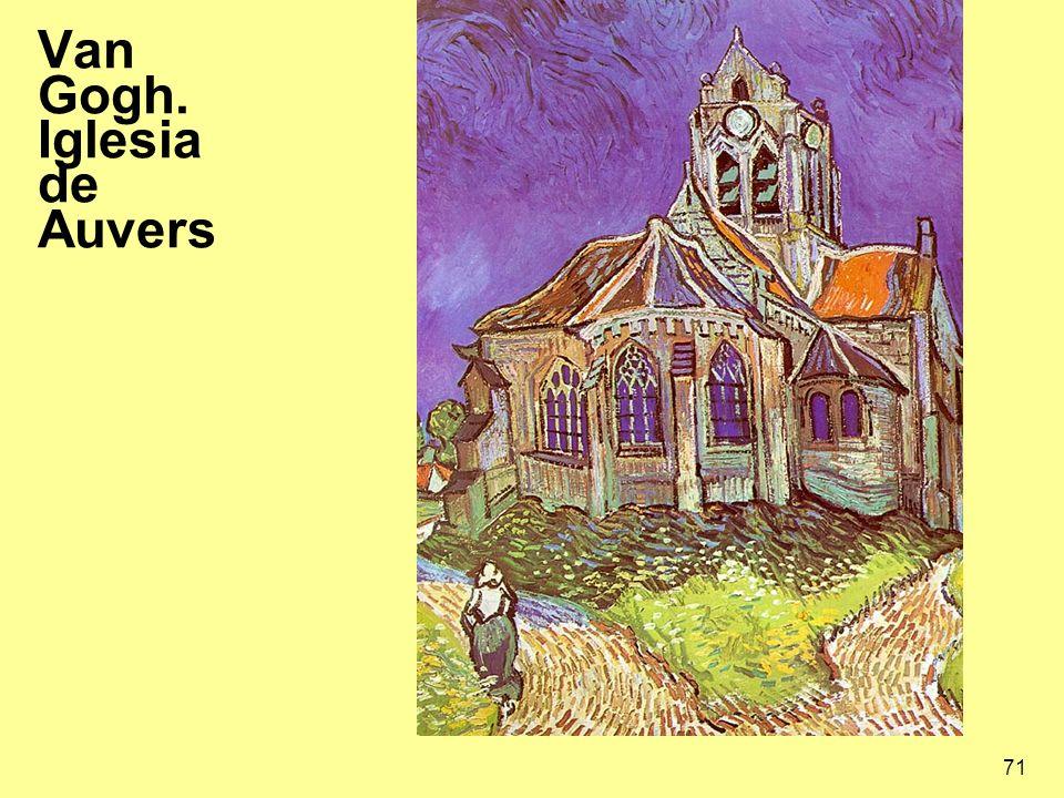 71 Van Gogh. Iglesia de Auvers