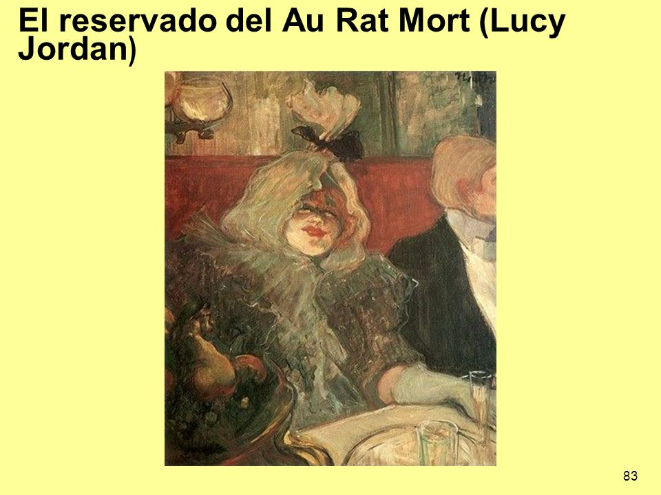83 El reservado del Au Rat Mort (Lucy Jordan )