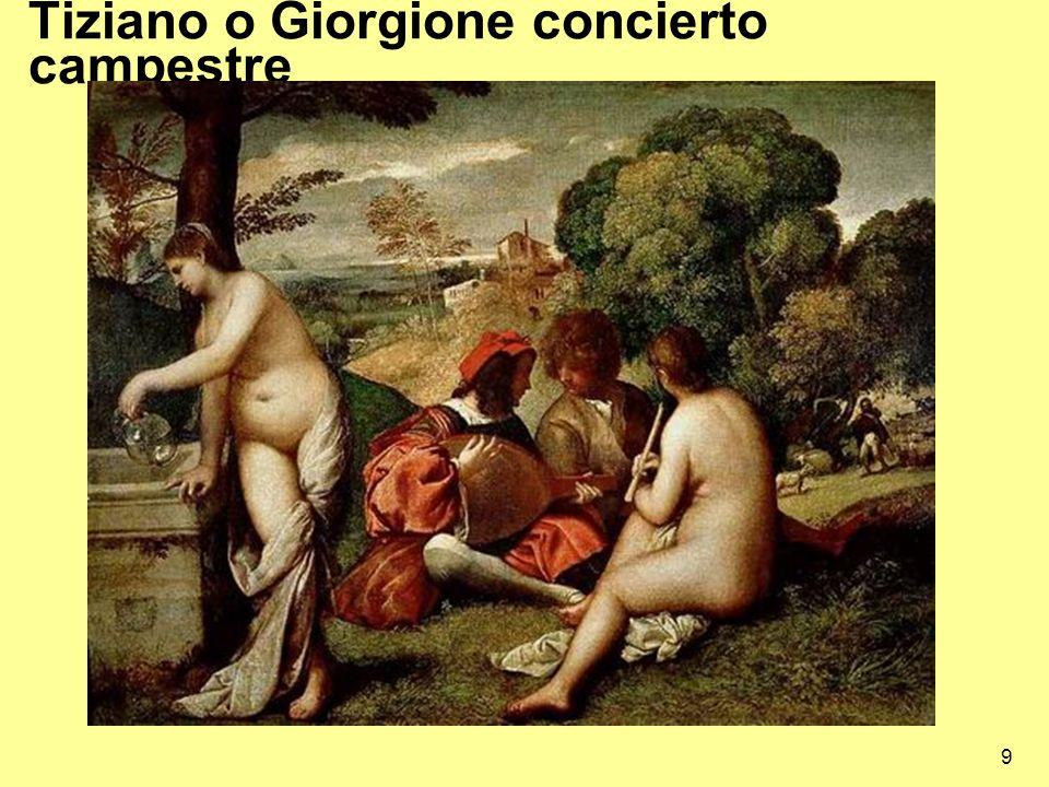 9 Tiziano o Giorgione concierto campestre
