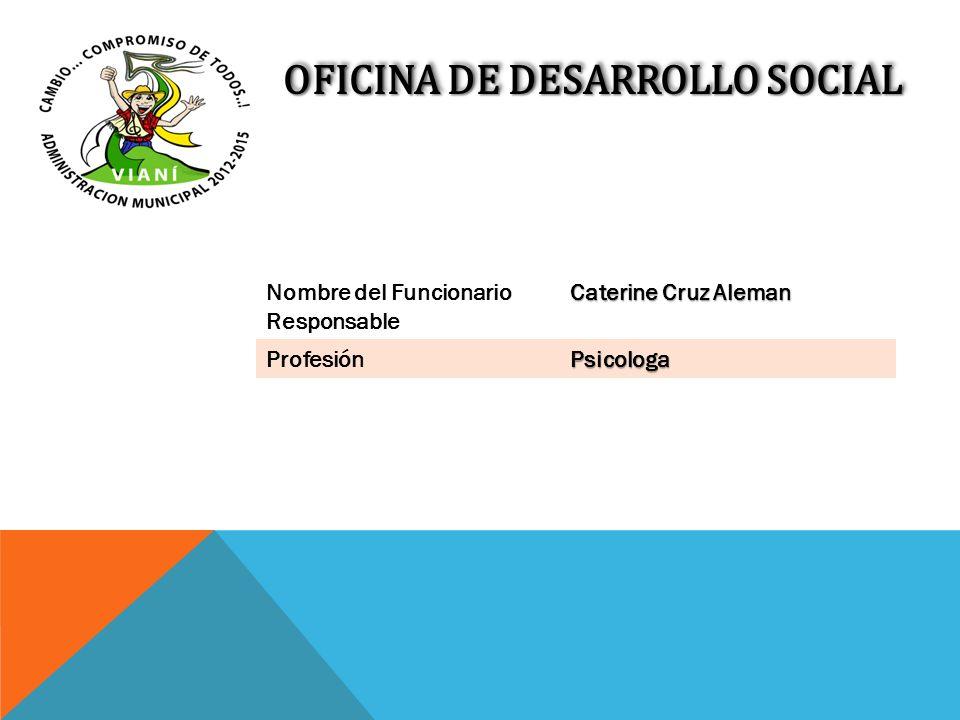Nombre del Funcionario Responsable Caterine Cruz Aleman ProfesiónPsicologa