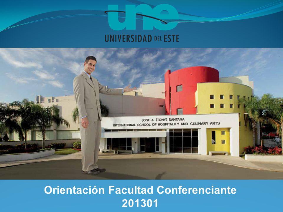 Orientación Facultad Conferenciante 201301