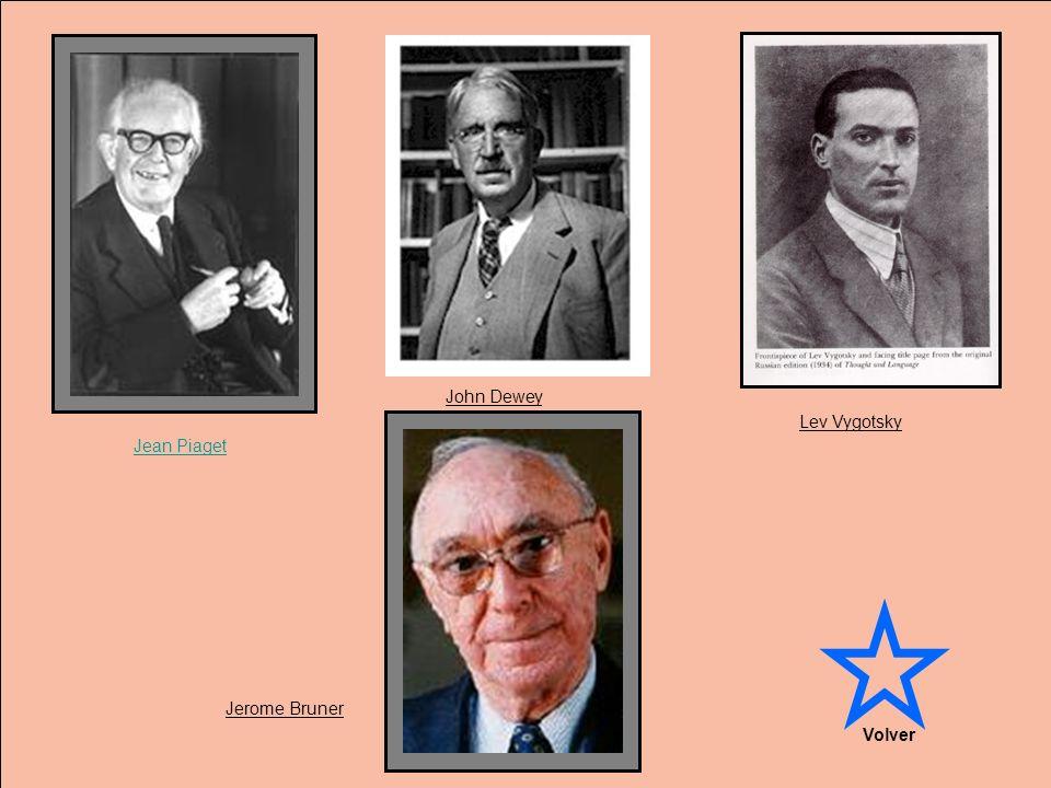 Jean Piaget Lev Vygotsky Jerome Bruner John Dewey Volver
