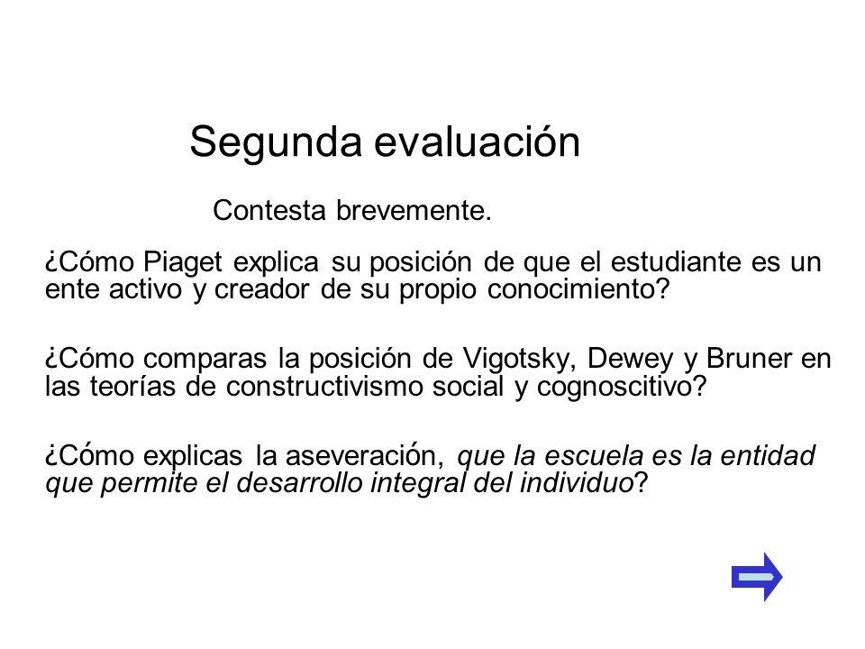 ¿ Cómo Piaget explica su posición de que el estudiante es un ente activo y creador de su propio conocimiento? ¿ Cómo comparas la posición de Vigotsky,