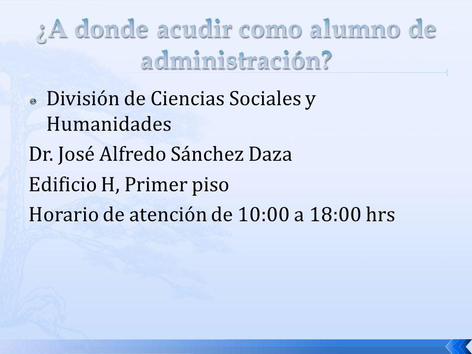 División de Ciencias Sociales y Humanidades Dr.