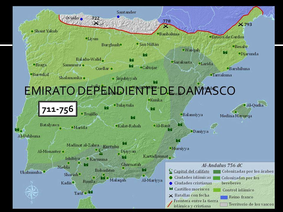 EMIRATO DEPENDIENTE DE DAMASCO 711-756