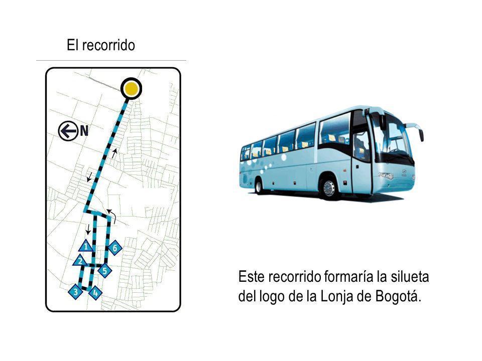 Este recorrido formaría la silueta del logo de la Lonja de Bogotá. El recorrido