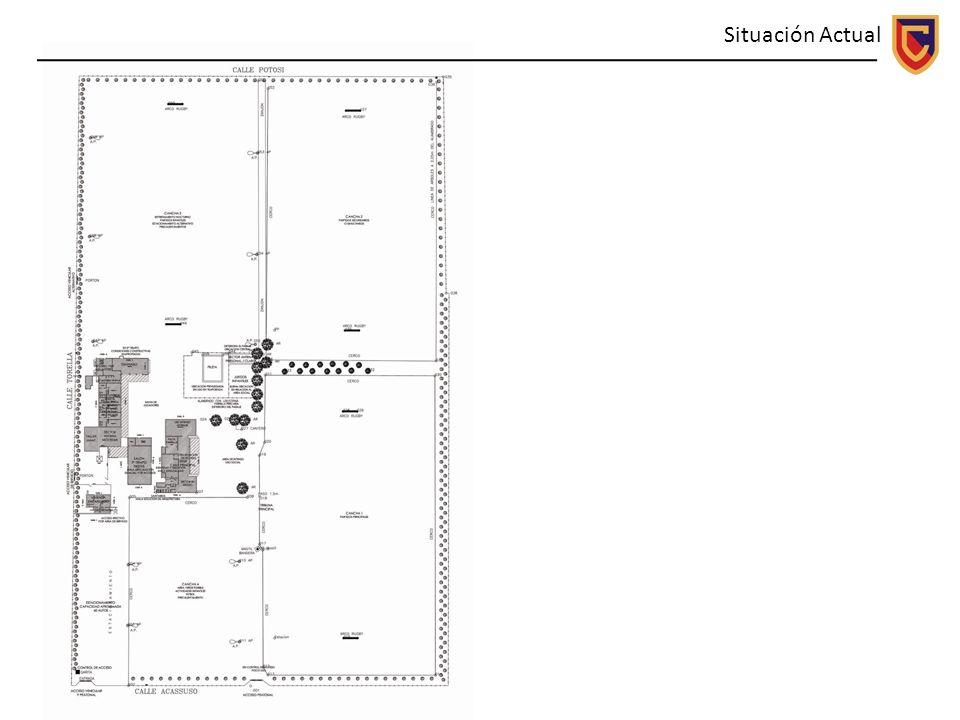 1º Etapa Sector Deportivo El listado de acciones se puede sintetizar en lo siguiente: 1.Acceso: Calificar el acceso peatonal de Calle Acassuso y genera a partir de allí un eje circulatorio principal.