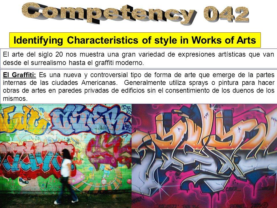 El arte del siglo 20 nos muestra una gran variedad de expresiones artísticas que van desde el surrealismo hasta el graffiti moderno.