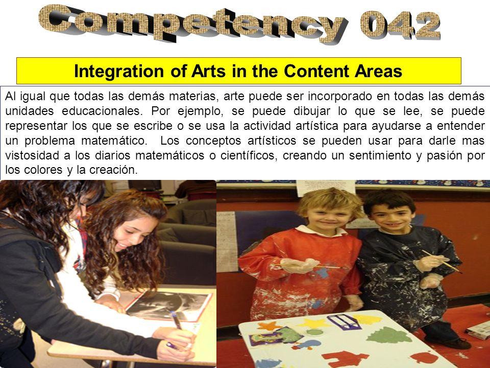 Al igual que todas las demás materias, arte puede ser incorporado en todas las demás unidades educacionales.