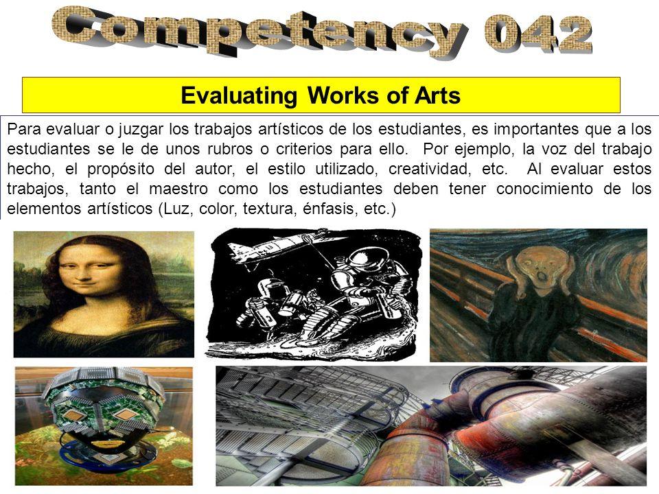 Para evaluar o juzgar los trabajos artísticos de los estudiantes, es importantes que a los estudiantes se le de unos rubros o criterios para ello.