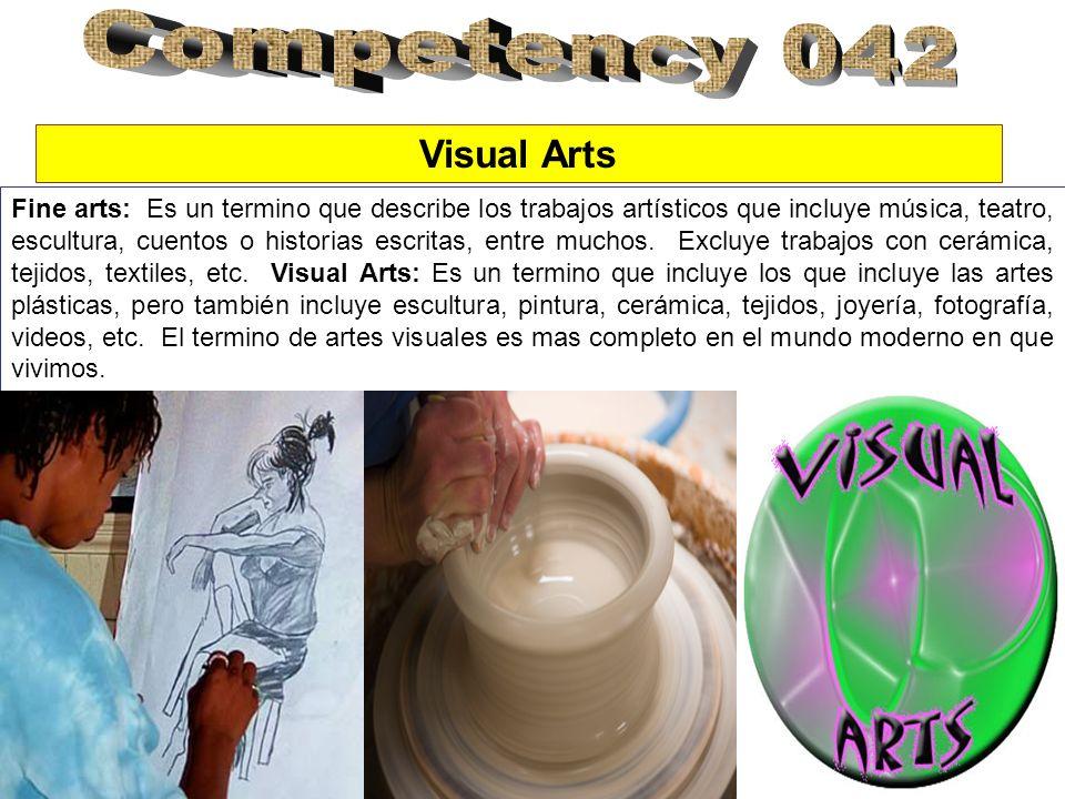 Fine arts: Es un termino que describe los trabajos artísticos que incluye música, teatro, escultura, cuentos o historias escritas, entre muchos.