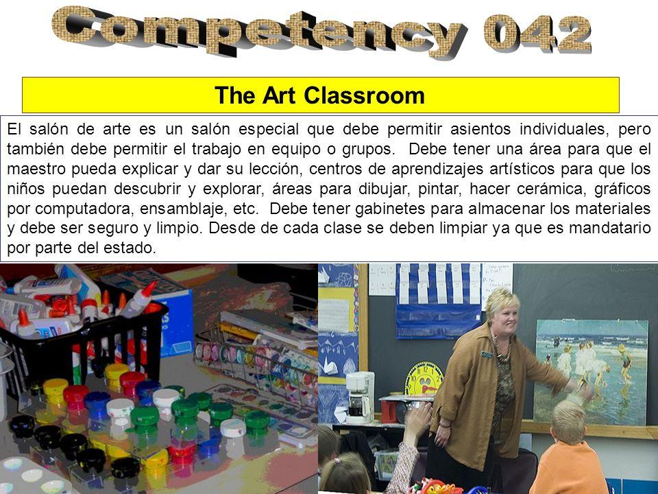 El salón de arte es un salón especial que debe permitir asientos individuales, pero también debe permitir el trabajo en equipo o grupos.