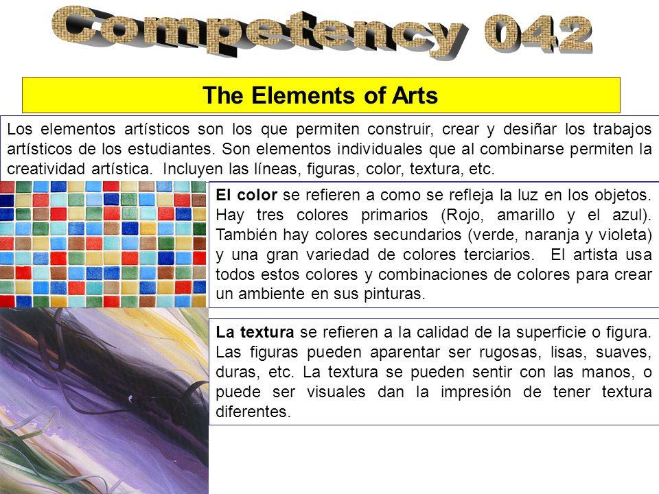 Los elementos artísticos son los que permiten construir, crear y desiñar los trabajos artísticos de los estudiantes.