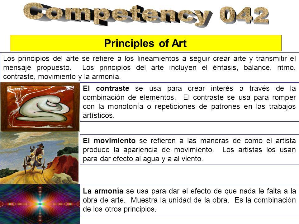 Los principios del arte se refiere a los lineamientos a seguir crear arte y transmitir el mensaje propuesto.
