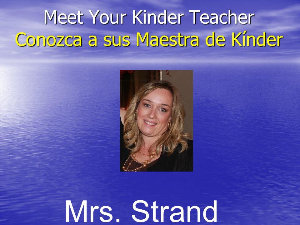 Información importante para el Kínder Important Information for Kindergarten