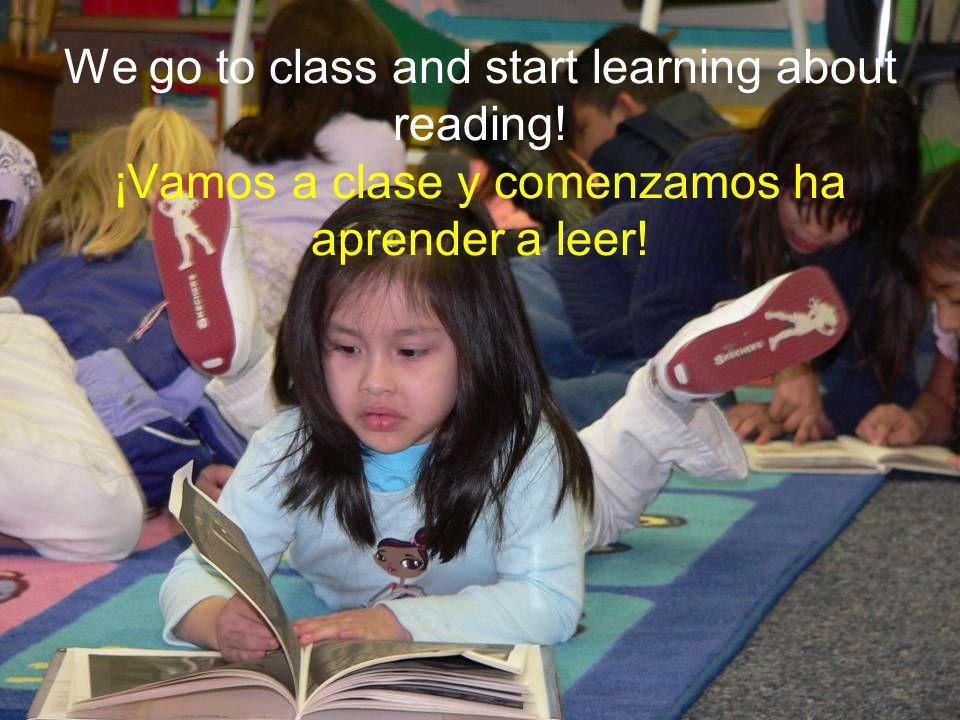 We learn about the alphabet and phonics. Aprendemos acerca del abecedario y de la fonética.