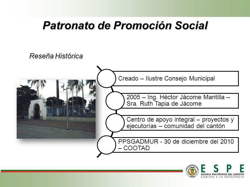 Patronato de Promoción Social Creado – Ilustre Consejo Municipal 2005 – Ing.