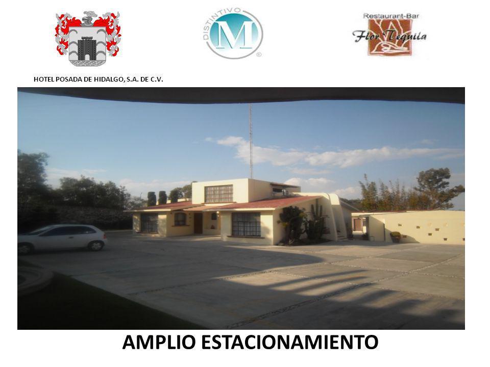 HOTEL POSADA DE HIDALGO, S.A. DE C.V. AMPLIO ESTACIONAMIENTO