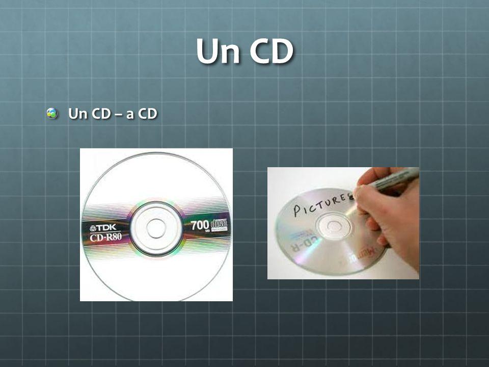 Un CD Un CD – a CD
