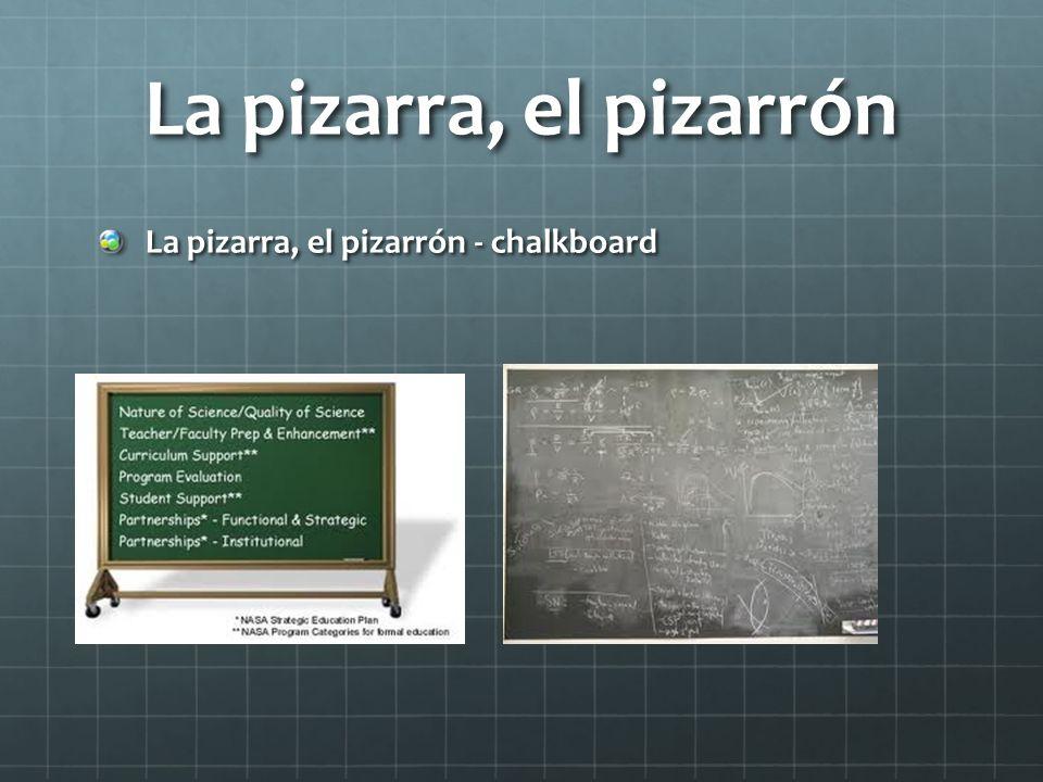 La pizarra, el pizarrón La pizarra, el pizarrón - chalkboard