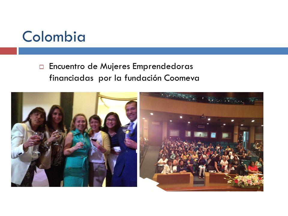 Colombia Encuentro de Mujeres Emprendedoras financiadas por la fundación Coomeva