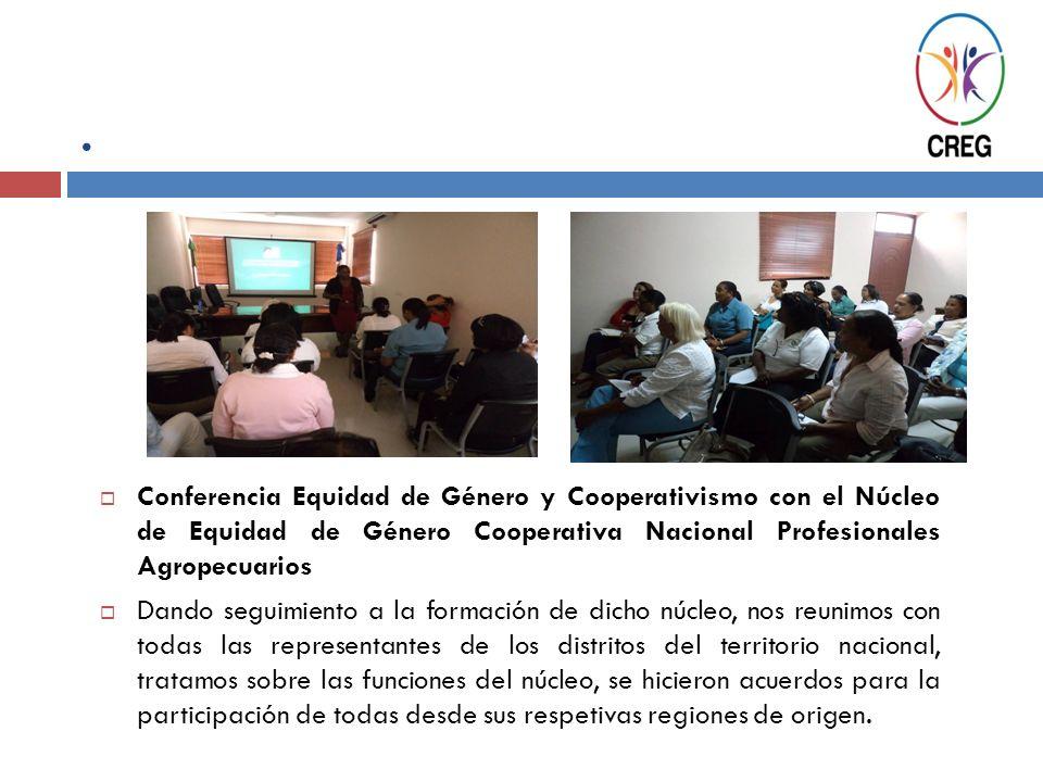 . Conferencia Equidad de Género y Cooperativismo con el Núcleo de Equidad de Género Cooperativa Nacional Profesionales Agropecuarios Dando seguimiento