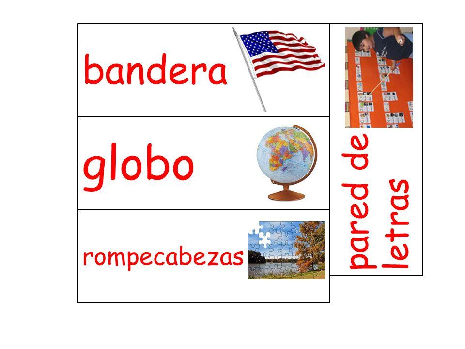 globo pared de letras rompecabezas bandera