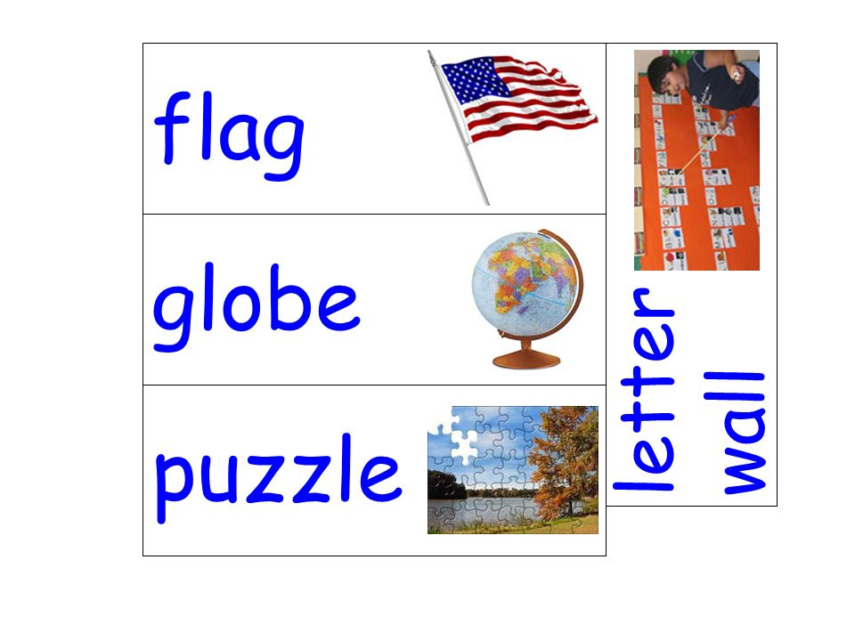 globe letter wall puzzle flag