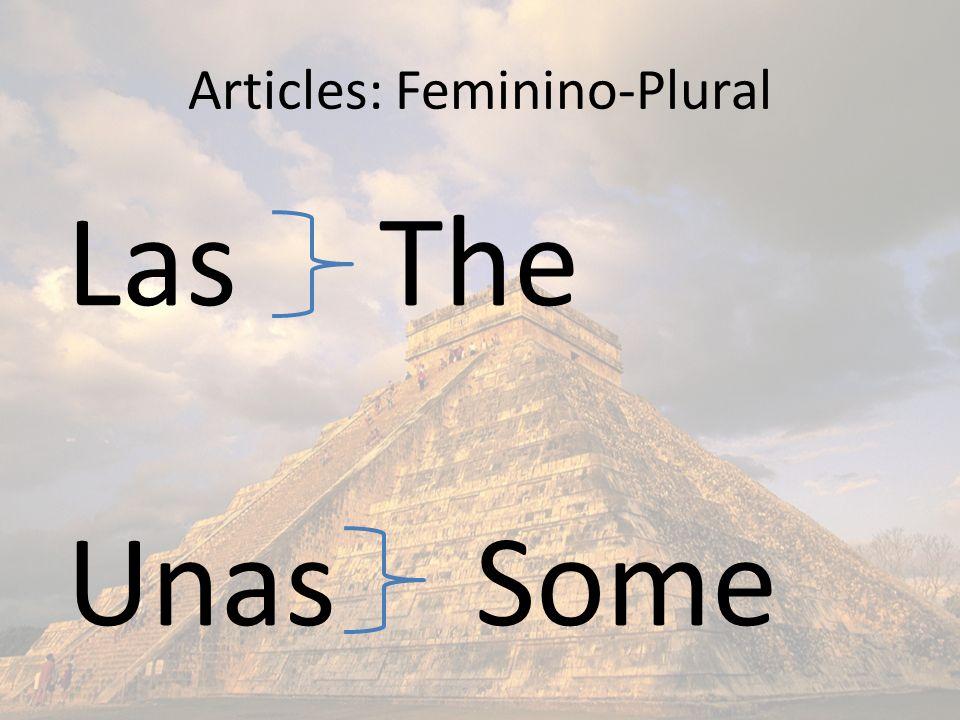 Articles: Feminino-Plural Las The Unas Some