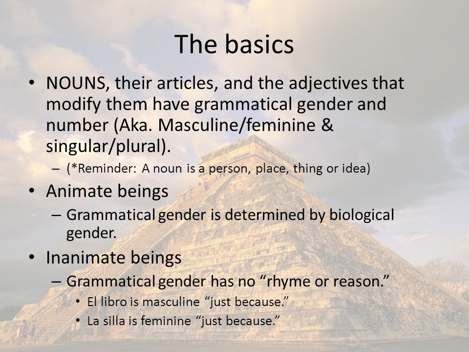 Articles There are two types: definite and indefinite.