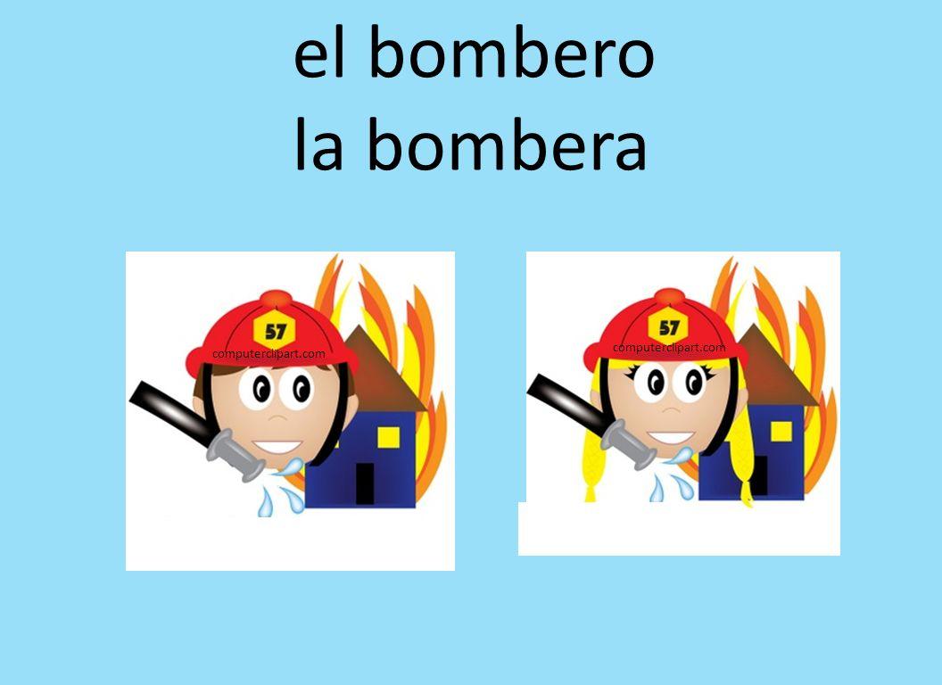 el bombero la bombera computerclipart.com