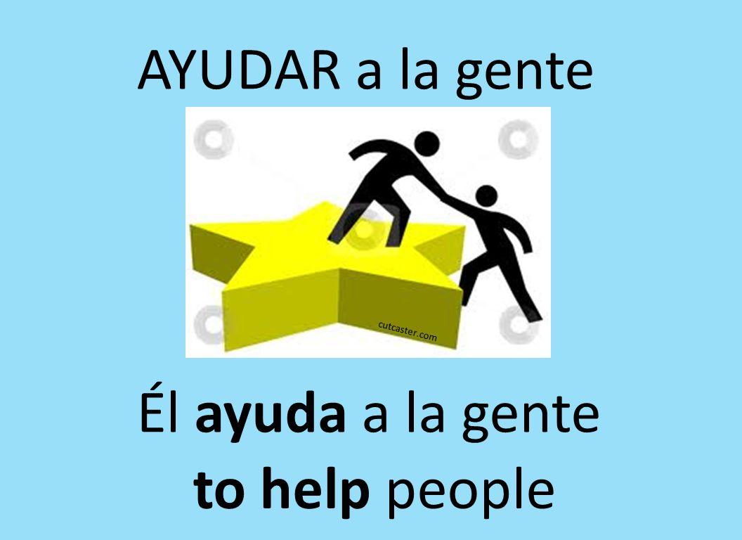 cutcaster.com AYUDAR a la gente Él ayuda a la gente to help people