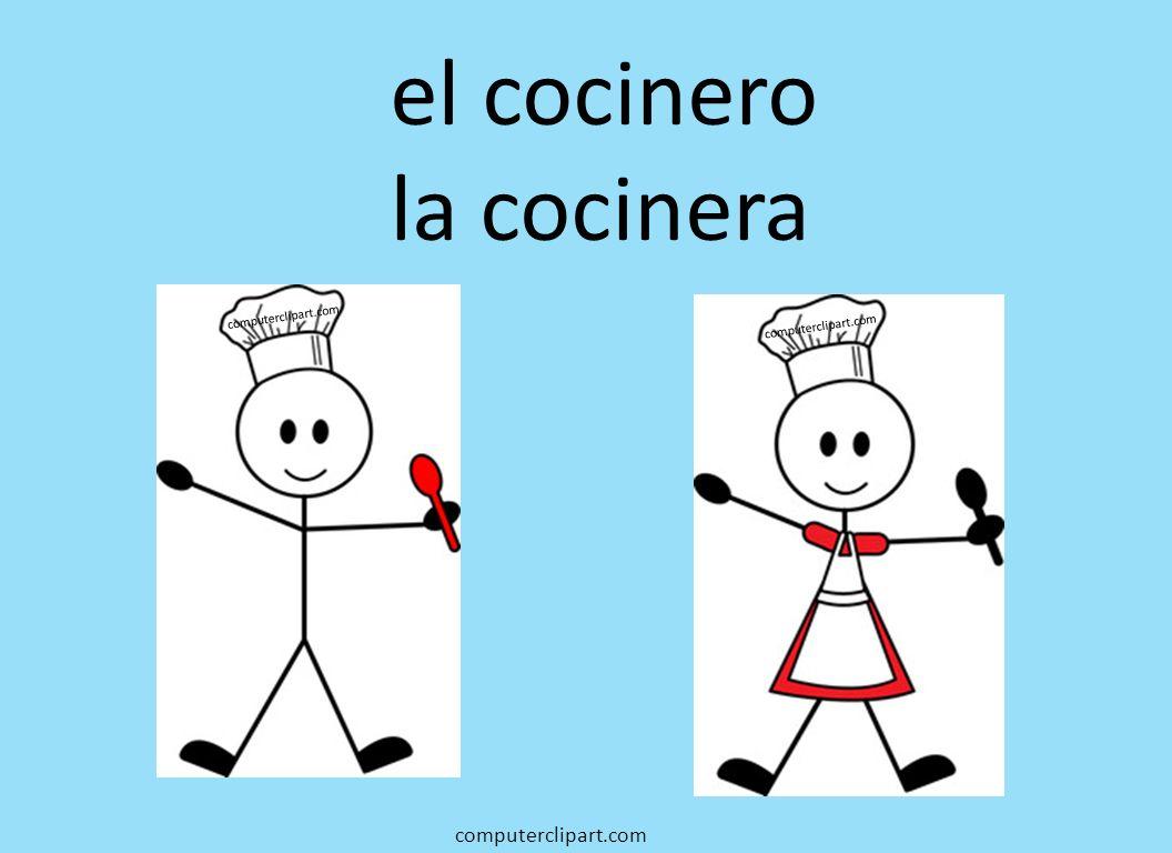 el cocinero la cocinera computerclipart.com