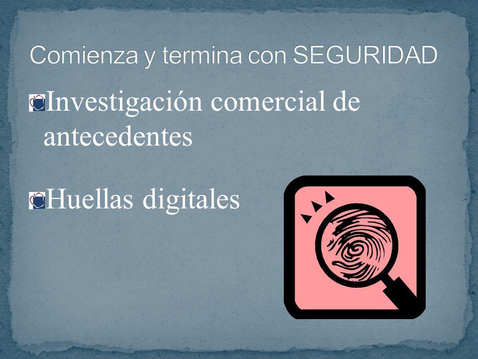 Investigación comercial de antecedentes Huellas digitales