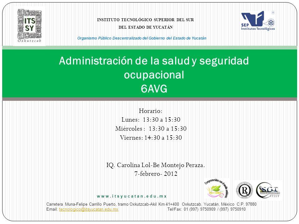 N° de la Unidad 5 Unidad Temática Salud industrial.