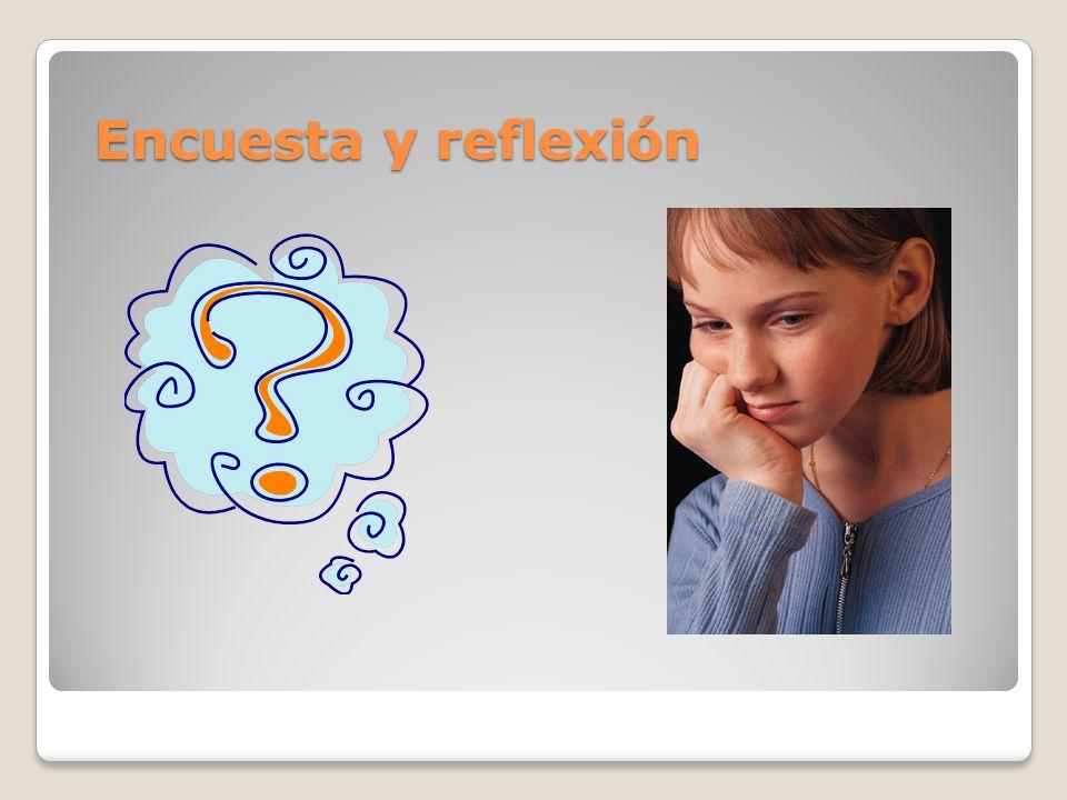 Encuesta y reflexión