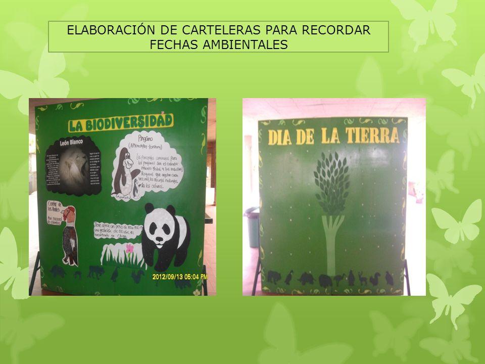 ELABORACIÓN DE CARTELERAS PARA RECORDAR FECHAS AMBIENTALES