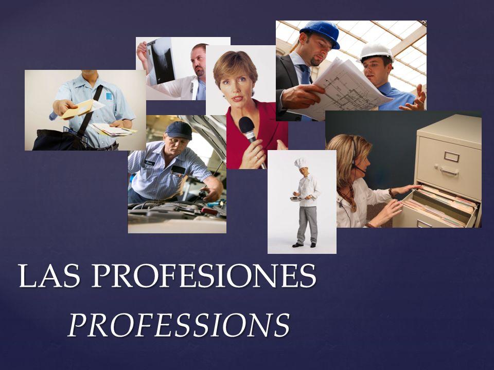 LAS PROFESIONES PROFESSIONS