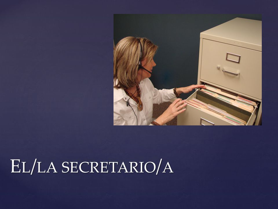 E L / LA SECRETARIO / A